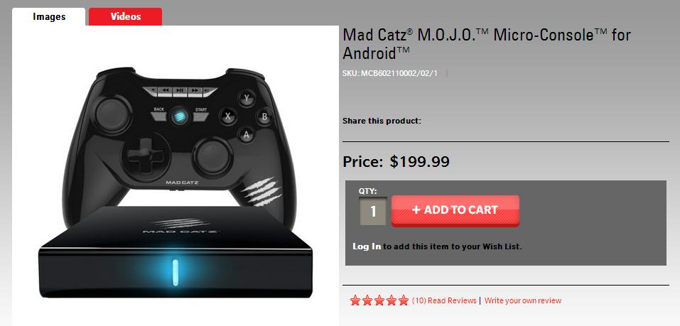 Mad Catz Becomes The First Ouya Everywhere Partner, Drops