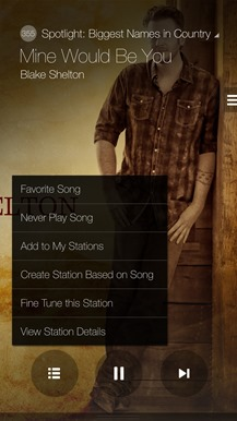 Milk Music - Contextual Menu - Blake Shelton