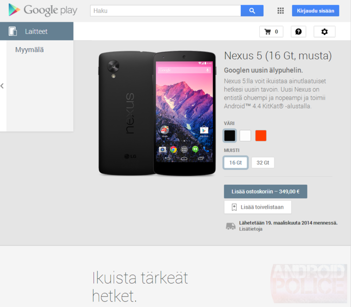 Google Launches Play Store Devices (Nexus 5 And Nexus 7) In