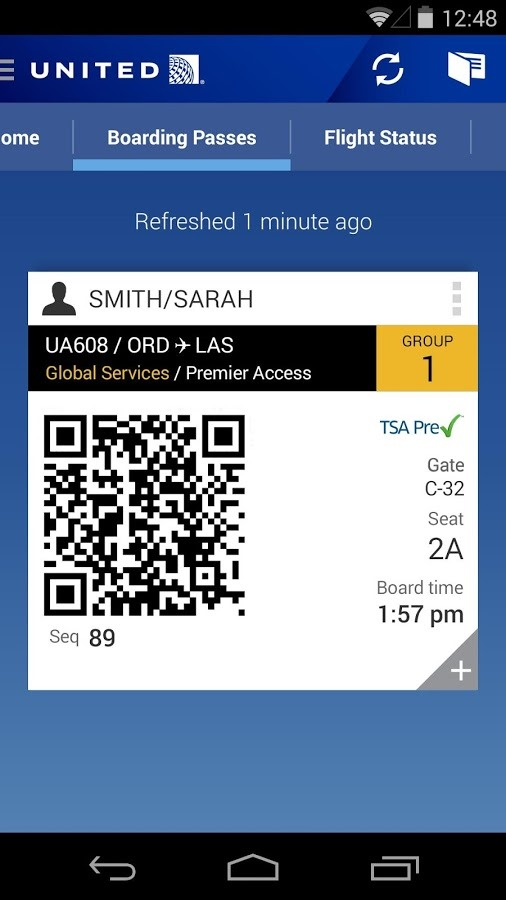 United Airlines App Updated To V2 0 With A Proper Android