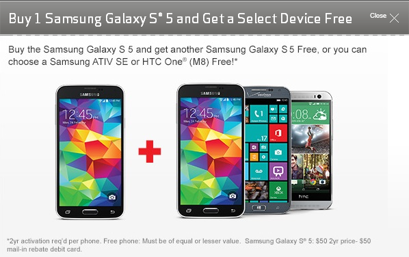 Waived activation fee on galaxy s5
