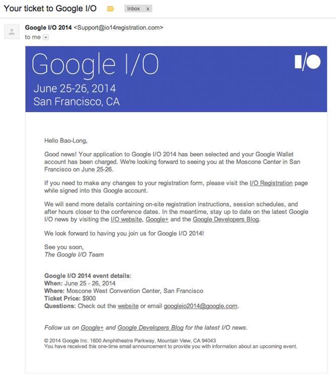 google I/O, 24h chez Google : I/O, 4G+, Nexus 8, Tactus…