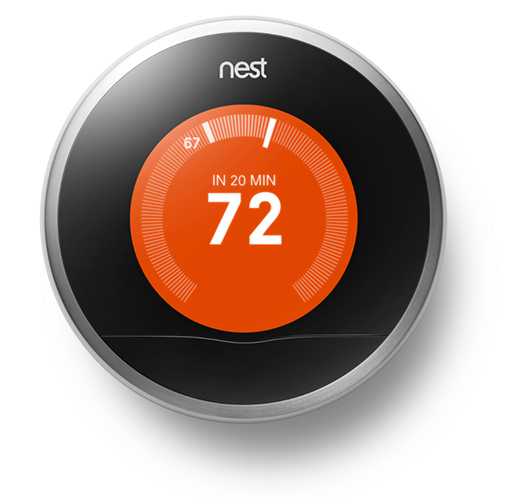 Google begins selling the nest thermostat in google play for 249 will plant a tree for every - Nest thermostat stylish home temperature control ...