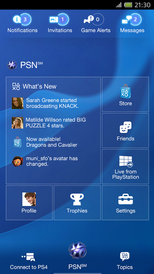 Official PlayStation App Updated With Push Notifications And