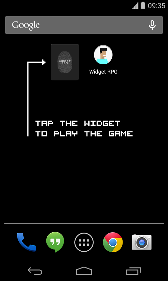 [New Game] Widget RPG Is A Tiny One-Button Role Playing Game That Hangs Out On Your Homescreen