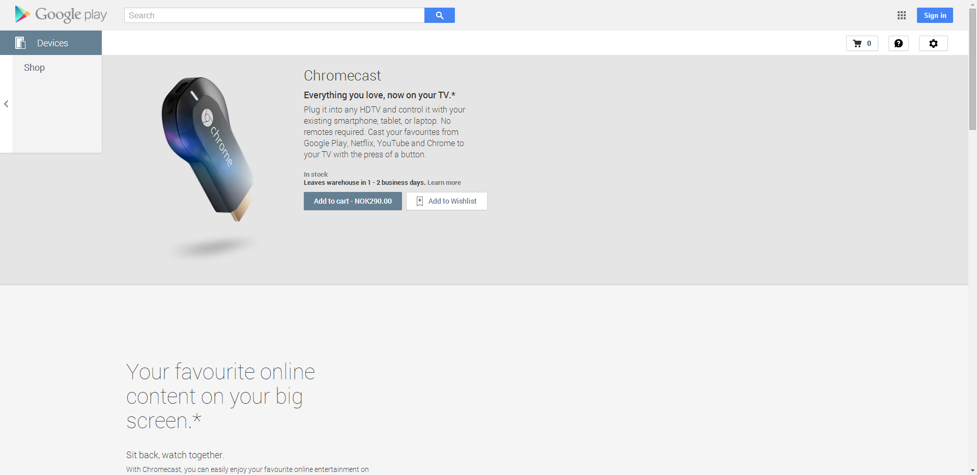 Google Play Devices Now Available In Norway And Switzerland