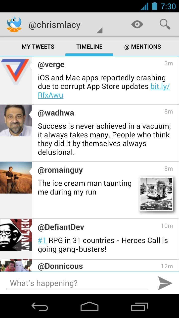 tweet lanes brings pure android twitter client