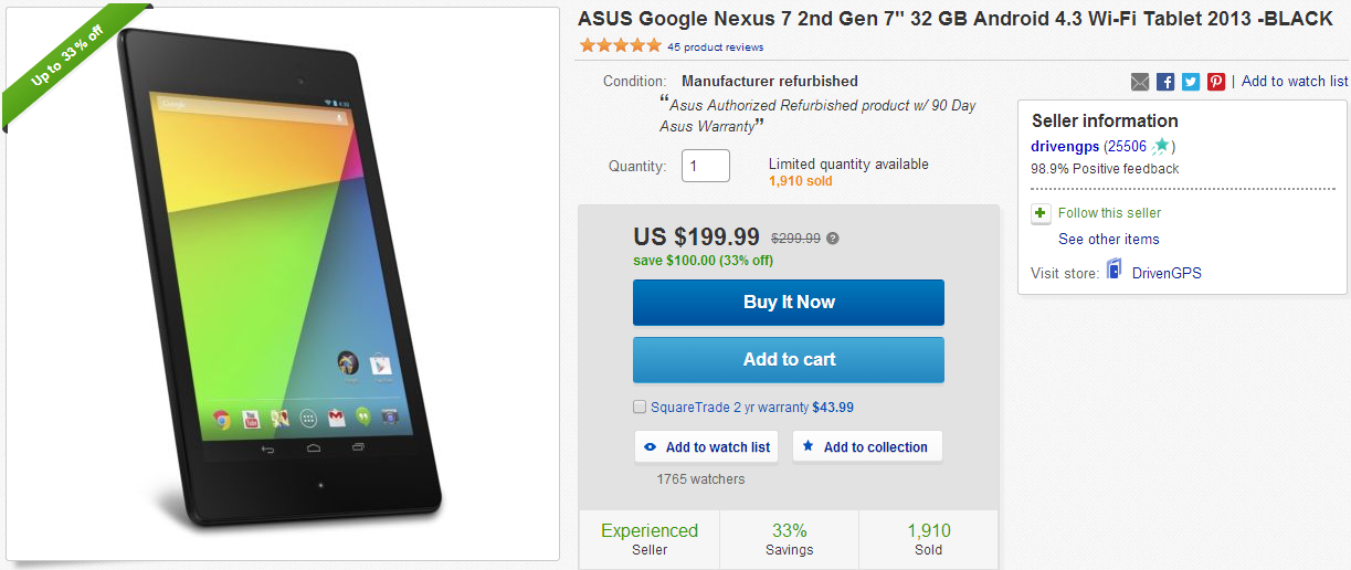 Hold the old nexus 7 like nexus 7