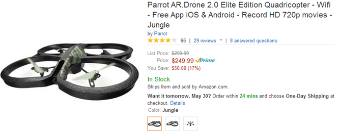 2014-05-29 13_20_27-Amazon.com_ Parrot AR.Drone 2.0 Elite Edition Quadricopter - Wifi - Free App iOS