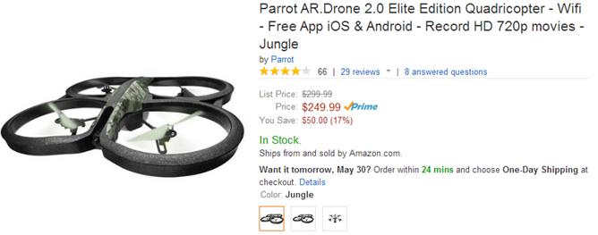 2014-05-29 13_20_27-Amazon.com_ Parrot AR.Drone 2.0 Elite Edition Quadricopter - Wifi - Free App iOS