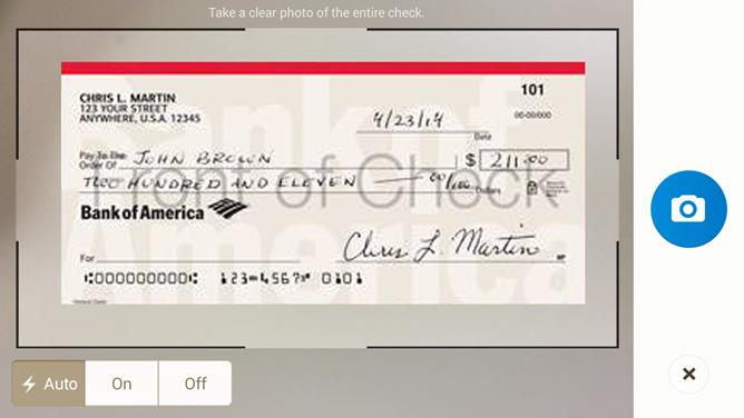 Bank of America Checks