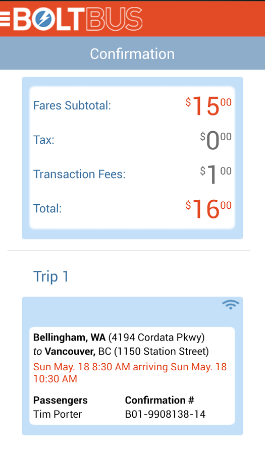New App] Greyhound's Spiffy New BoltBus Android App Makes