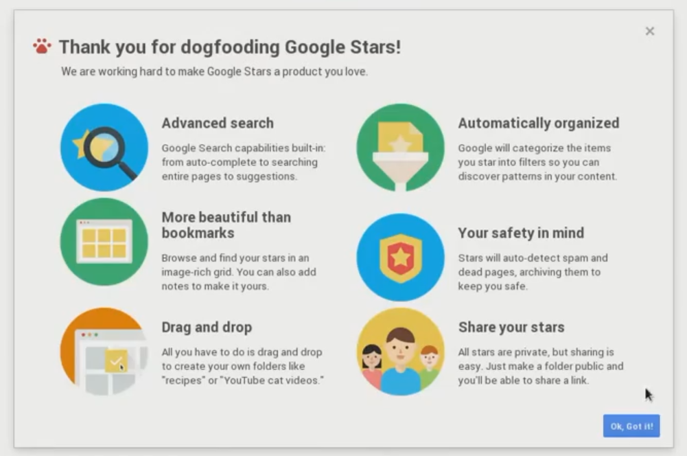 """Google+ Post Gives Further Insight Into The Upcoming Google / Chrome Bookmarks Overhaul, AKA """"Google Stars"""""""