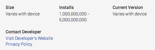 Gmail 1 Billion download