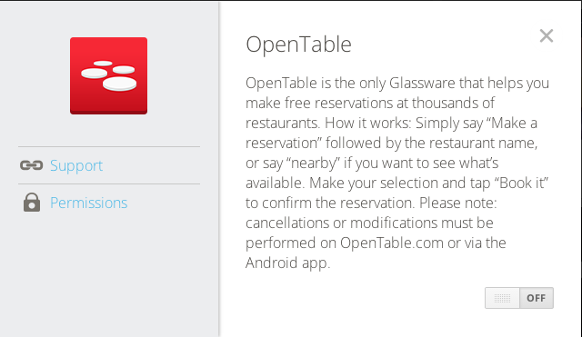 Foursquare TripIt And OpenTable All Release Official Glassware Apps - What is open table reservation