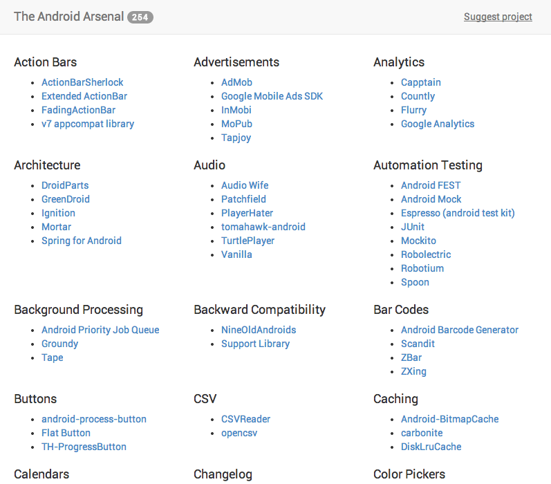 """[For Developers] New Website """"The Android Arsenal"""" Links To Hundreds Of Great Libraries And Tools For App Development"""