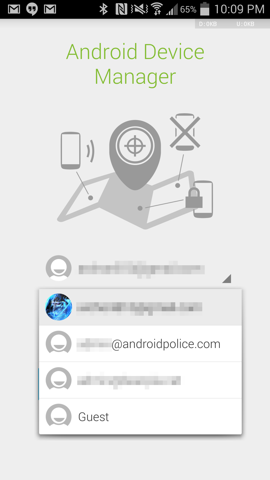Android Device Manager 1 2 Update Allows You To Sign Into A