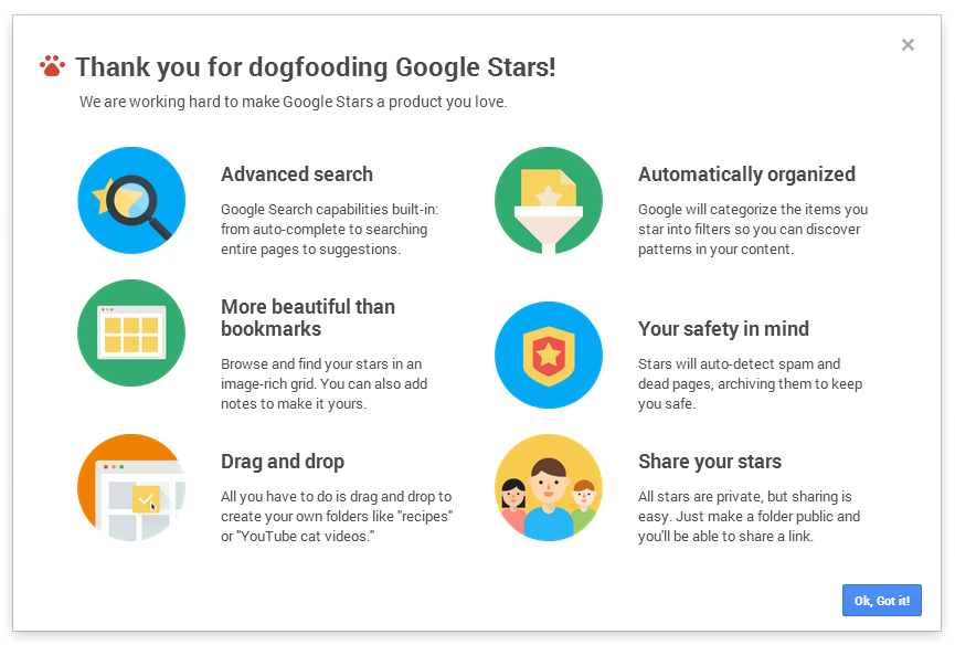 Google Stars Chrome Extension And Web Interface Go Live, 'Add The