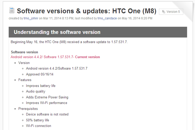 T-Mobile's HTC One (M7) Gets Sense 6 And The One M8 Gets