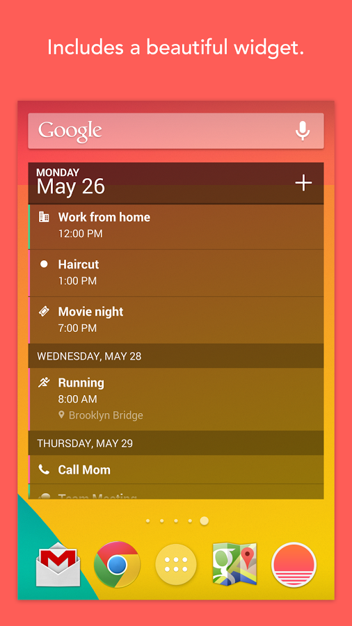 New App] iOS Favorite Sunrise Calendar Comes To Android
