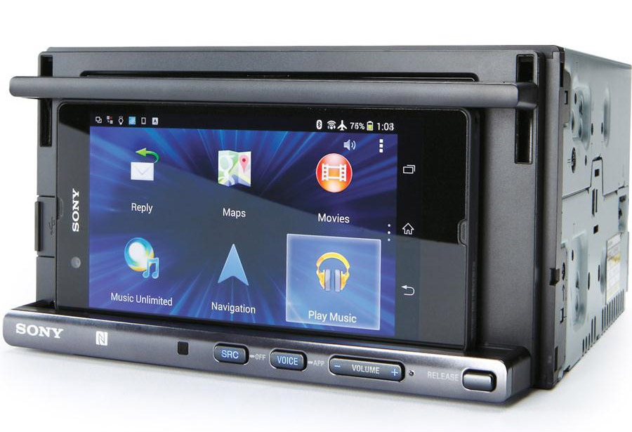 sony 39 s xsp n1bt double din smartphone car stereo phone. Black Bedroom Furniture Sets. Home Design Ideas