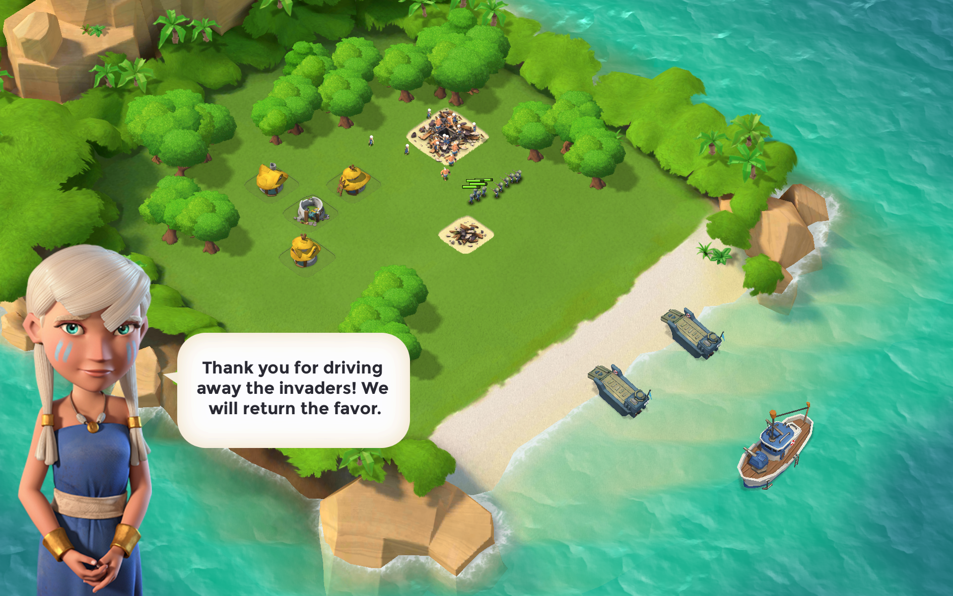 boom beach comes from the people who developed clash of clans and while this game is different they share the same genre those virtual buttons may look