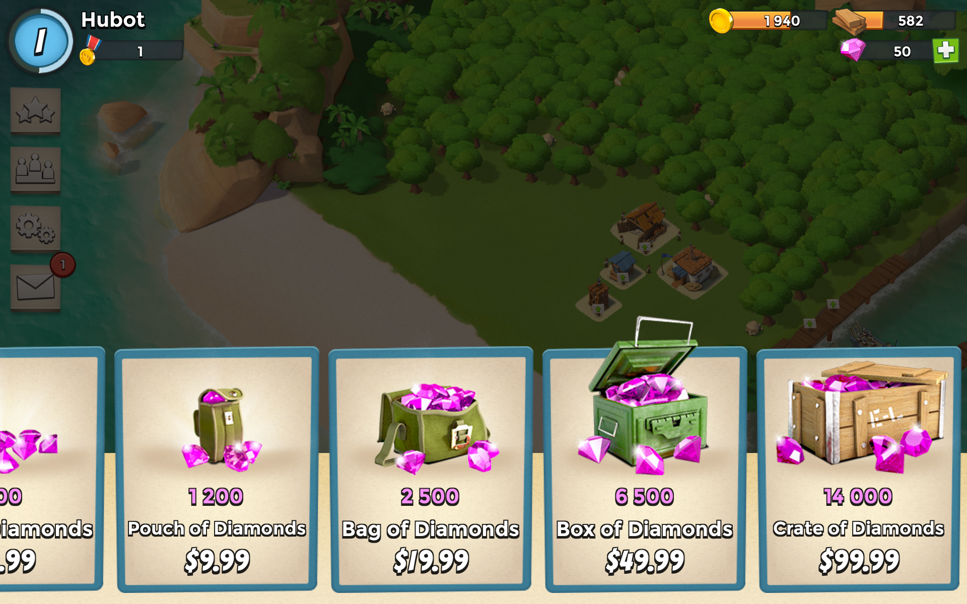 Boom Beach Store screenschot