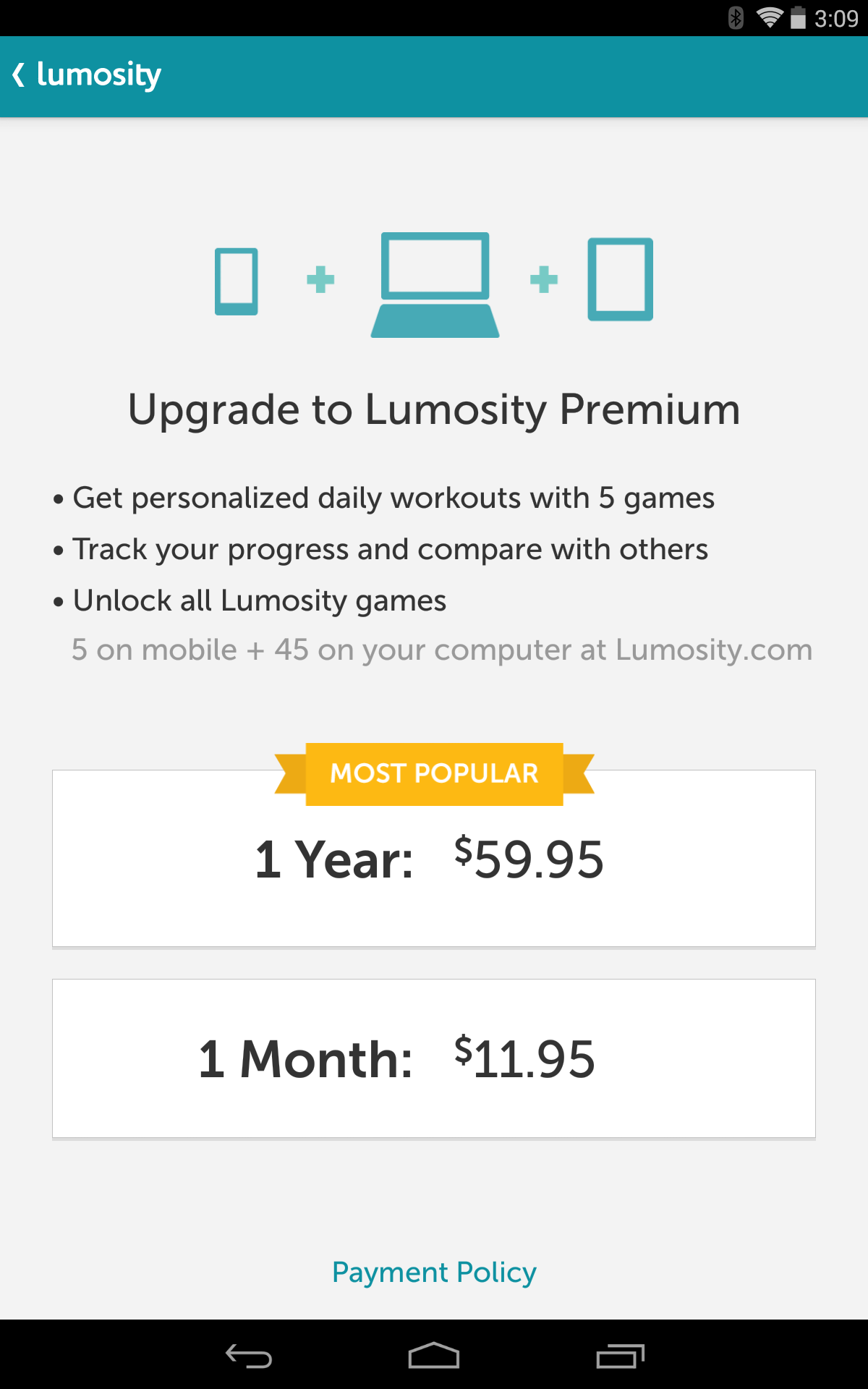 How much does Luminosity cost per month?