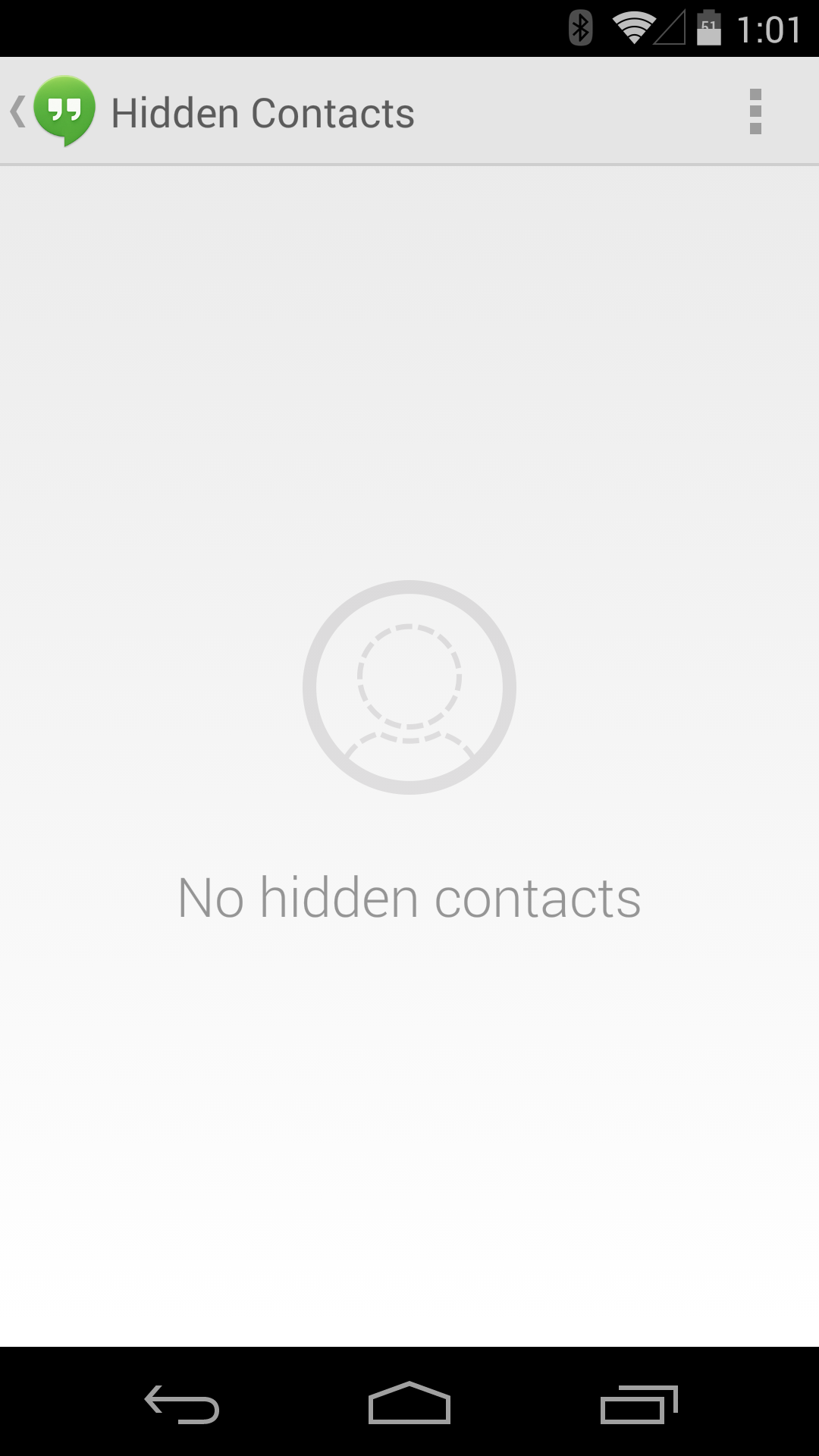 How to find hidden contacts on hangouts
