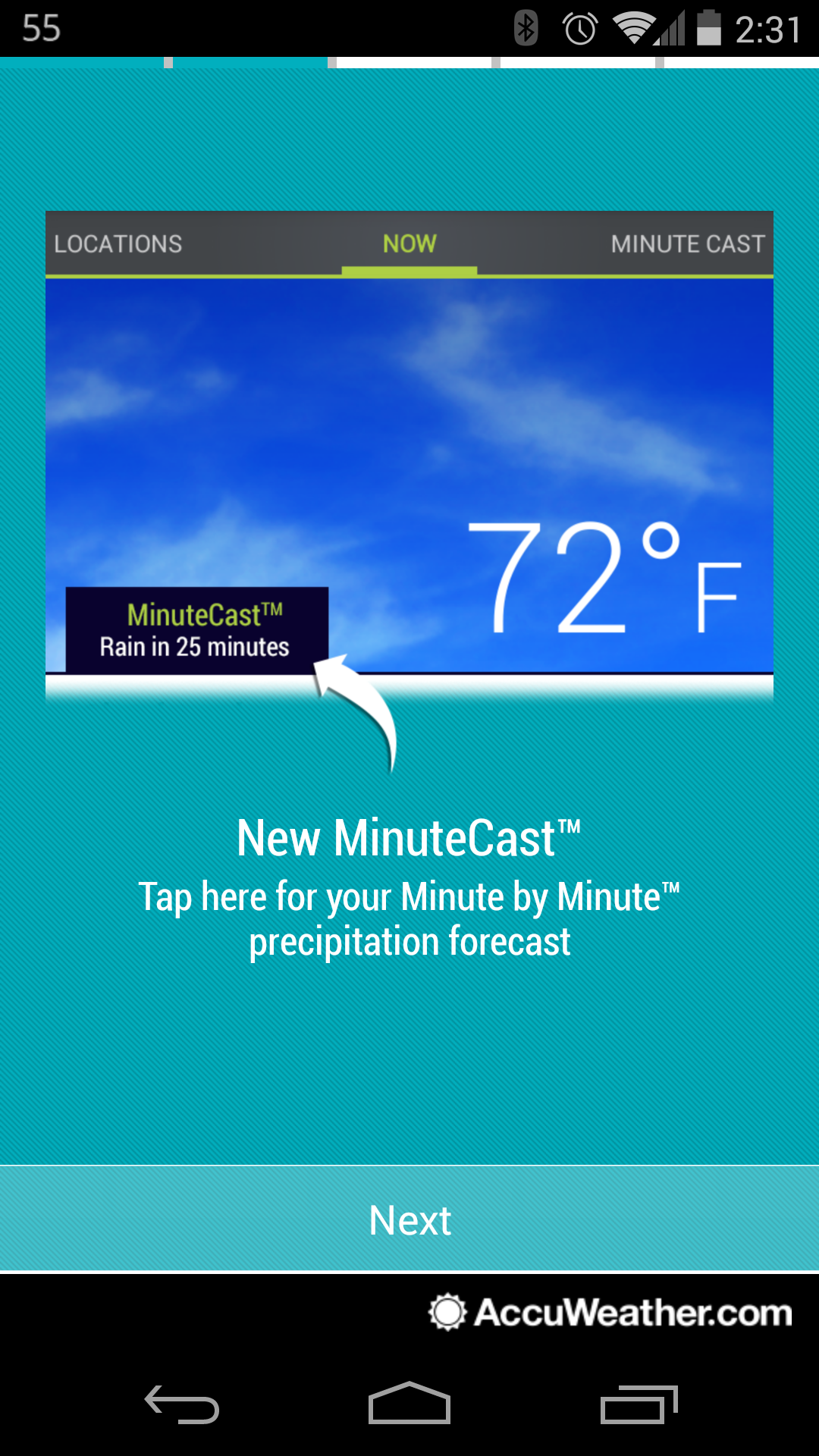 Accuweather Local Weather Forecasts : Accuweather update introduces minutecast and local