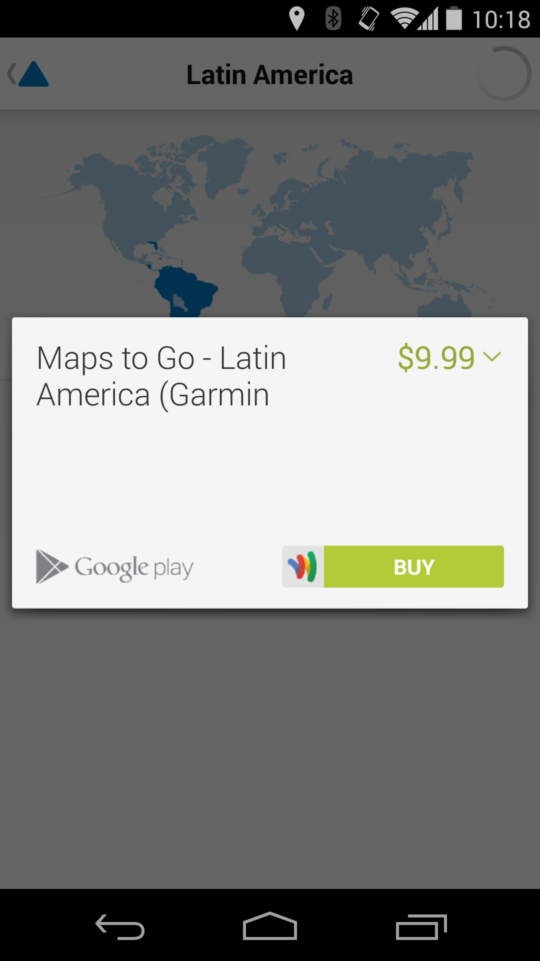 new app garmin launches v ago a gps app with offline. Black Bedroom Furniture Sets. Home Design Ideas
