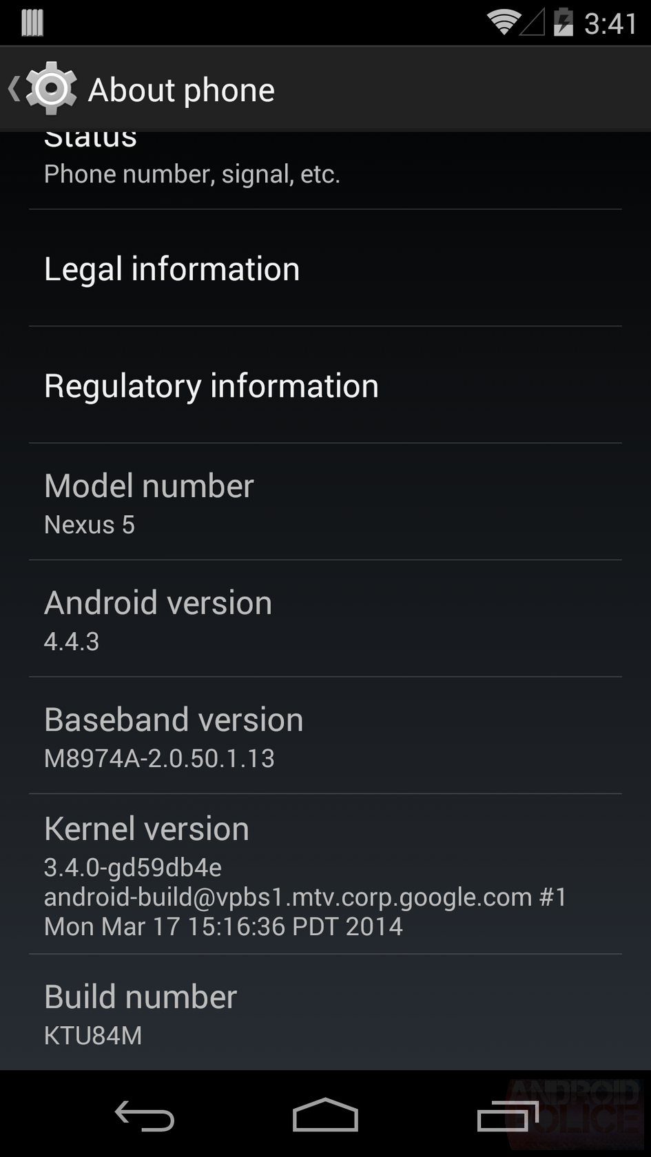 Here's The Nexus 5 Android 4.4.3 (KTU84M) OTA Zip Url You've Been Waiting For
