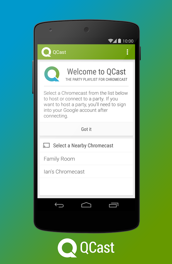 New App] QCast Music Pipes A Collaborative Party Playlist To