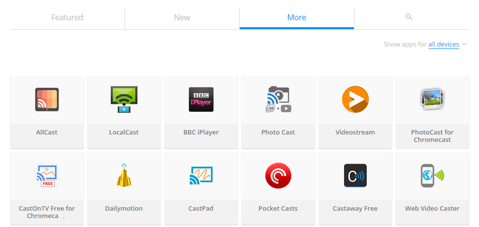 apps that support chromecast