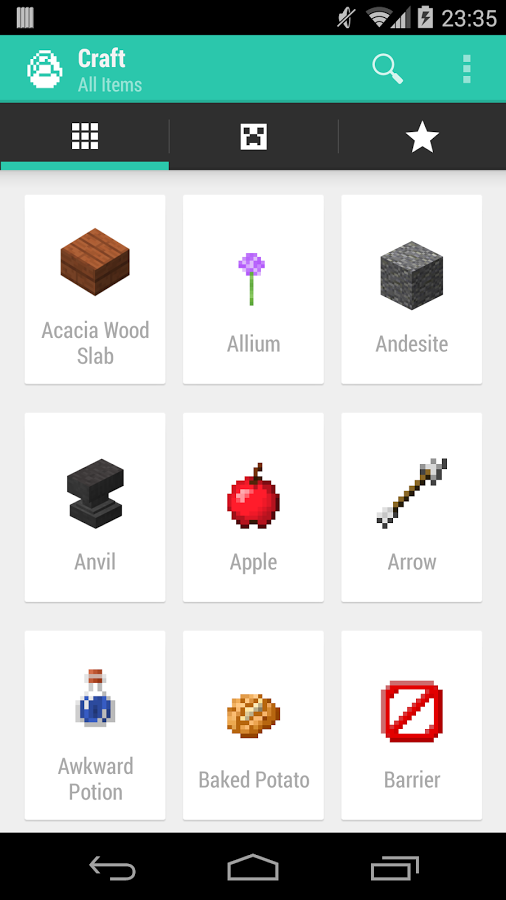 App That Has Minecraft Crafting Recipes On It