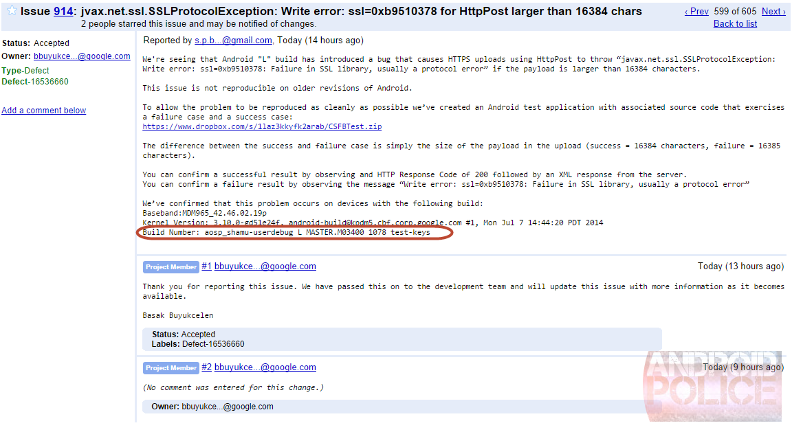Shamu en la página oficial de Android Developer Preview
