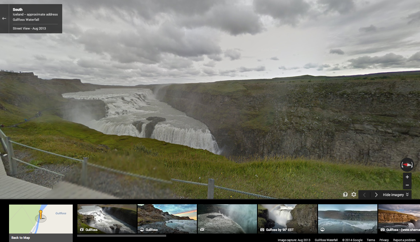 Google maps street view comes to iceland to discover nature and areas of iceland covered include the gullfoss waterfall the haukadalur geothermal area known locally as geysir and the keri volcanic crater lake gumiabroncs Gallery