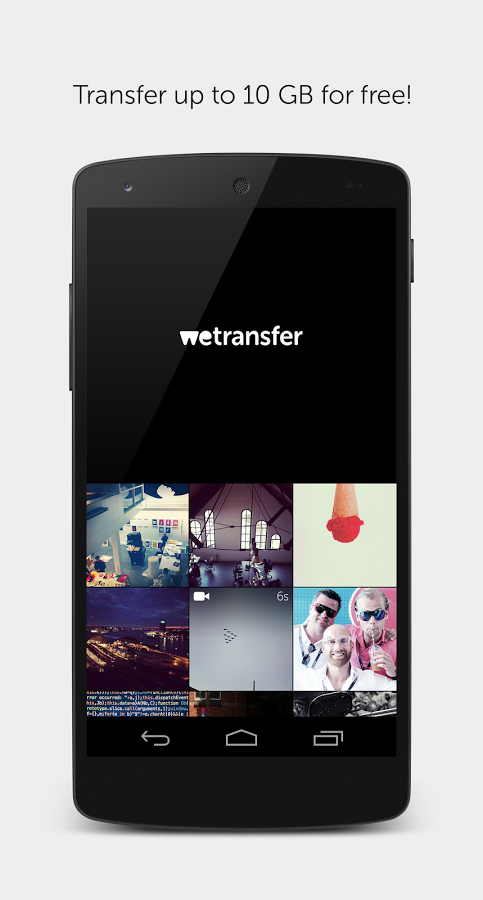 WeTransfer's New Android App Lets Users Send Files Up To 10GB For Free