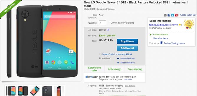 2014-08-07 11_58_44-New LG Google Nexus 5 16GB Black Factory Unlocked D821 Inetrnatioanl Model _ eBa