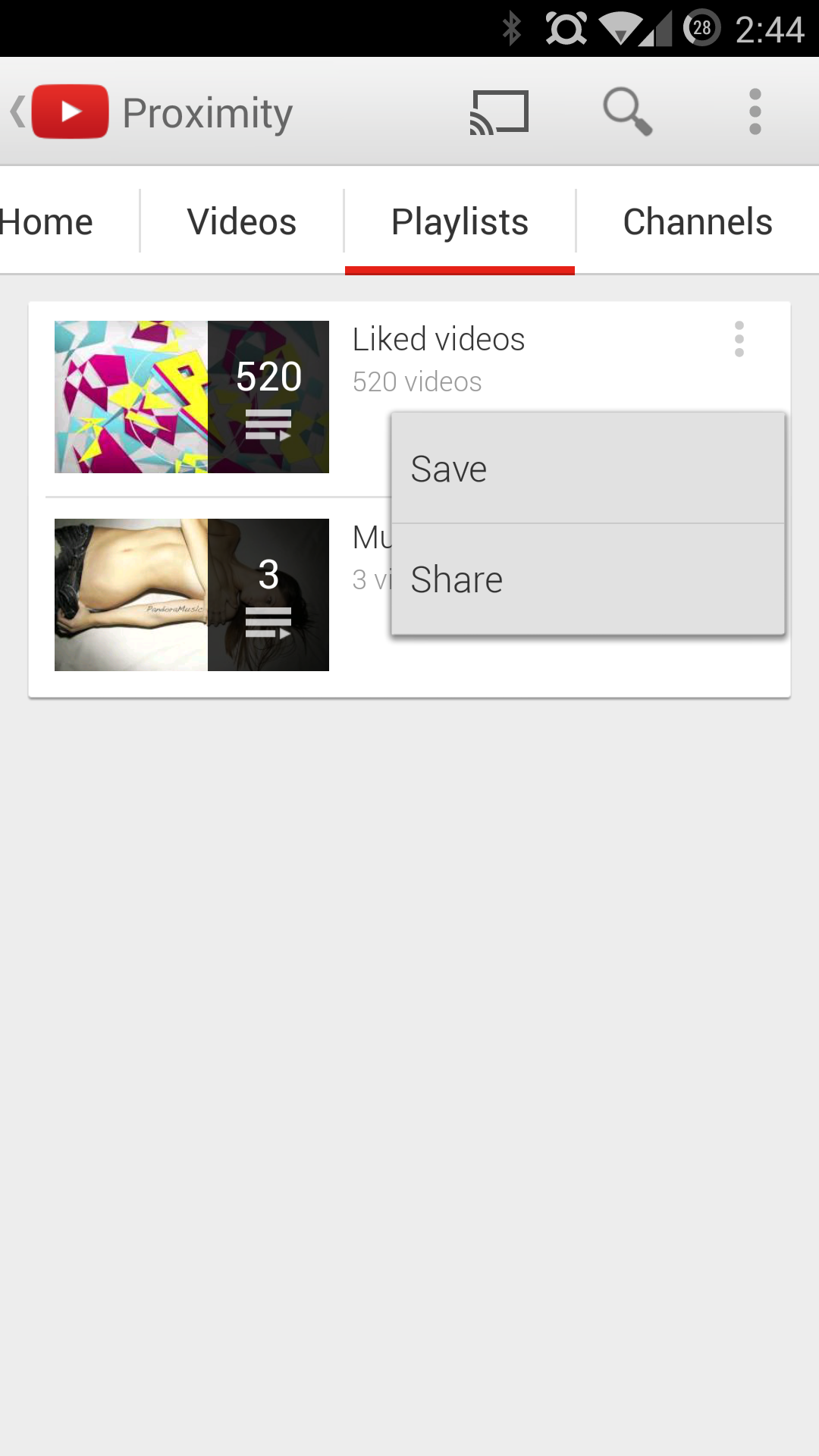 APK Download] YouTube 5 9 For Android Delivers A Number Of Playlist