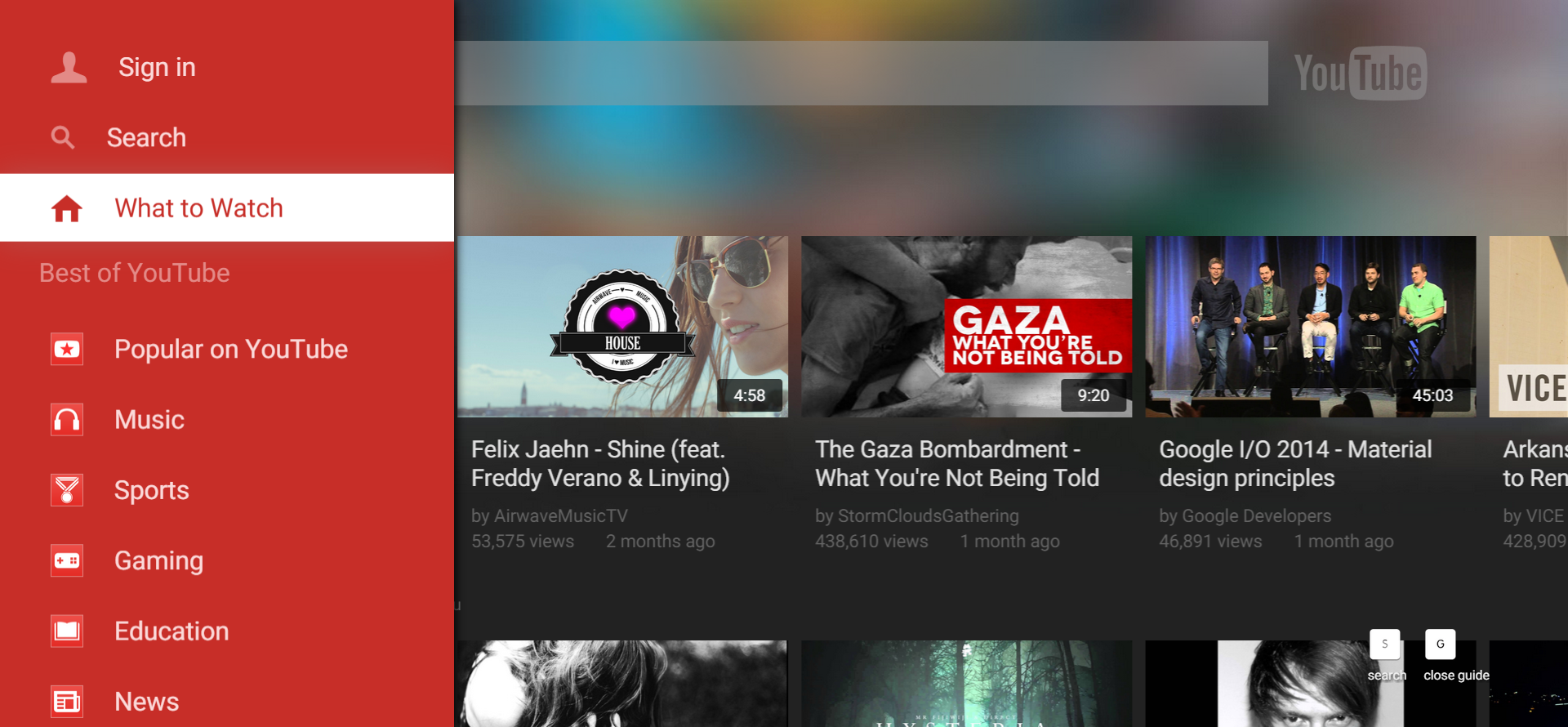 [Update: Play With It Now] YouTube For TV Gets Attractive ...