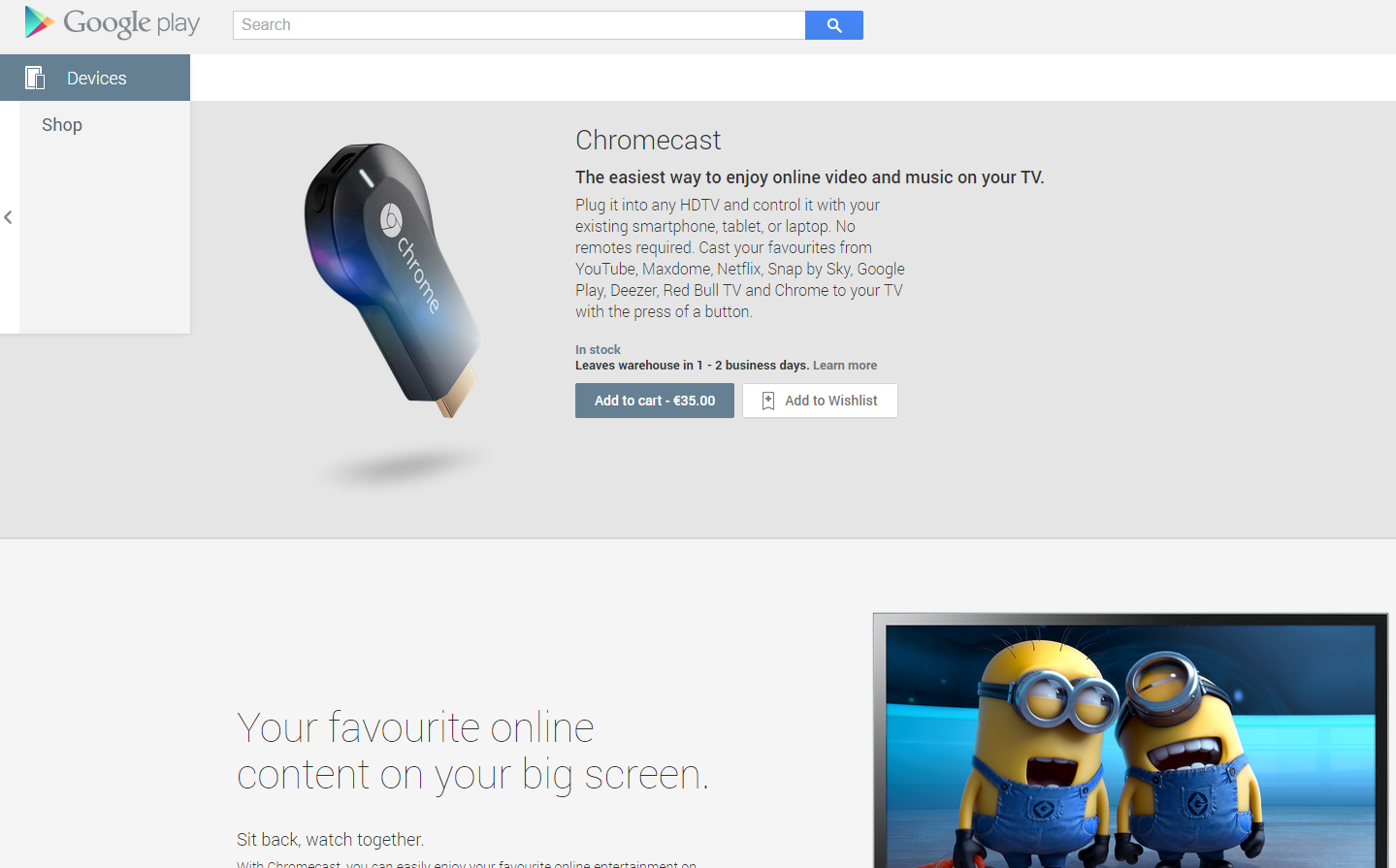 Chromecast Enabled Apps Google Store