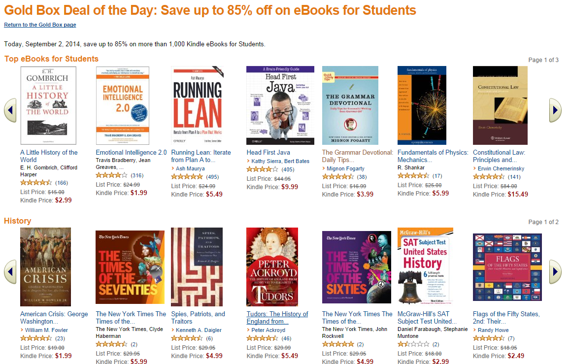 Save up to 85 on over 1000 educational books with todays amazon image fandeluxe Images