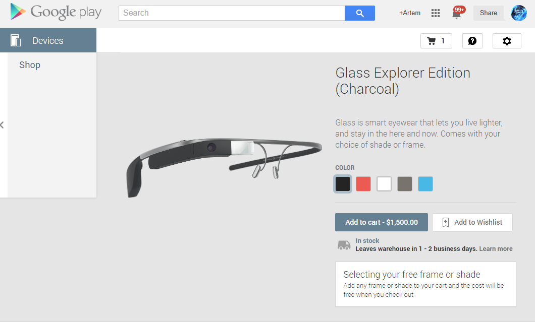 c3d8904ce6de Google Glass Explorer Edition Now Live In The US Play Store With All ...