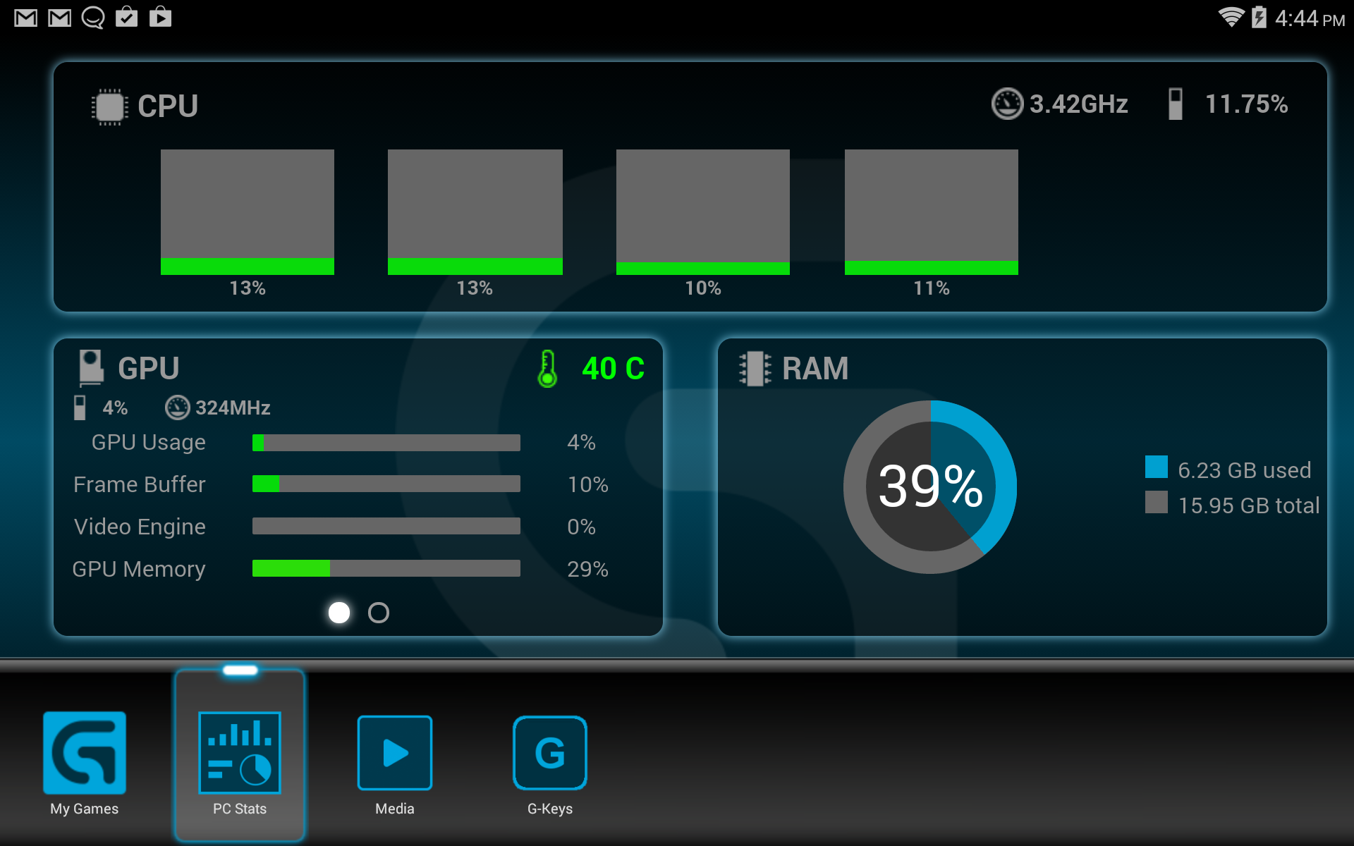Logitech's Arx Control App Lets You See Your Gaming PC's Performance