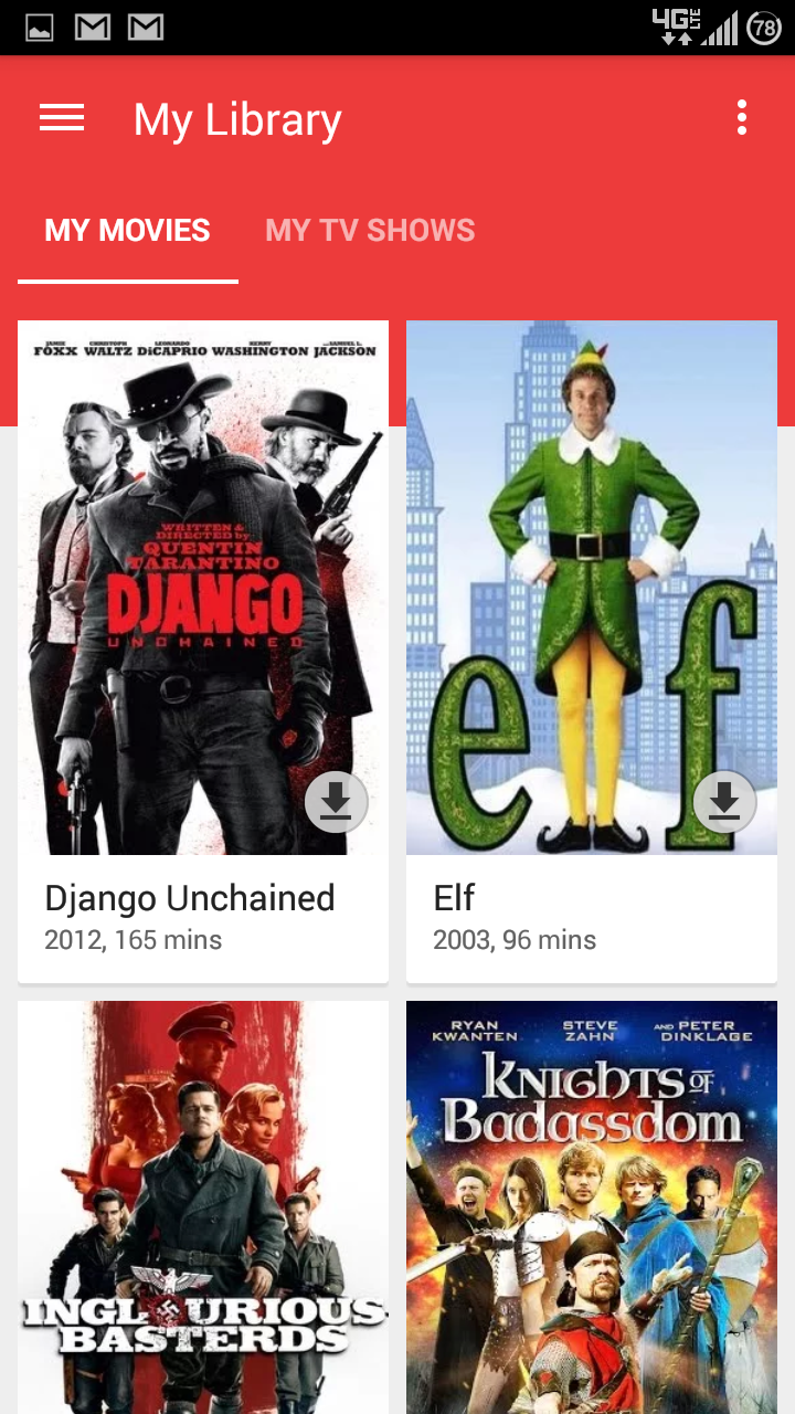 how to play downloaded movies on chromecast from phone