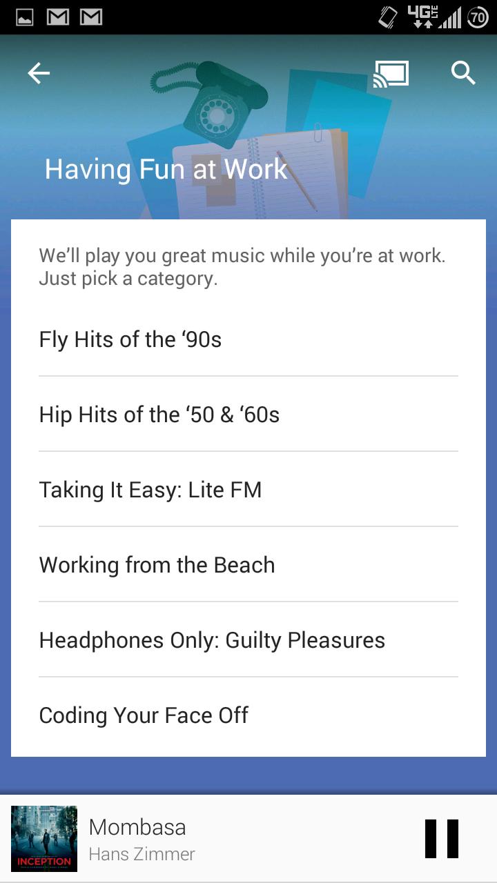 Update: APK Download] Google Throws Songza Contextual