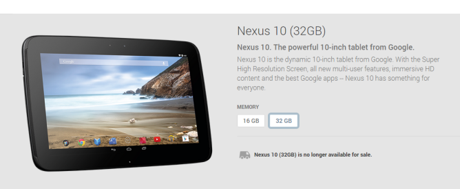 Google Stops Selling The Nexus 7 And Nexus 10 In The Play Store