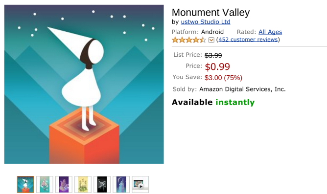 [Deal Alert] Monument Valley On Sale For $0.99 (From $3.99 ...