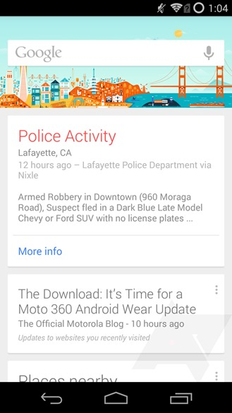 how to add a google now card